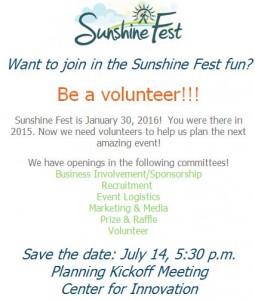 2016 Sunshine Fest